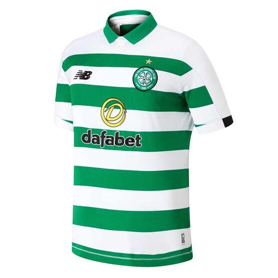 Celtic FC 2019/20 Mens Home Jersey, White / Green, rebel_hi-res