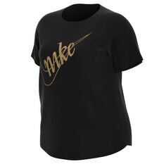 Nike Womens Sportswear Glam Dunk Tee Plus Black XL, Black, rebel_hi-res