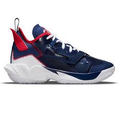 Jordan Why Not Zer0.4 Kids Basketball Shoes Blue US 4, Blue, rebel_hi-res