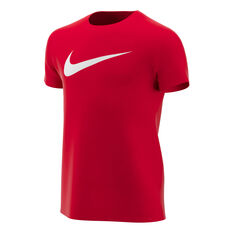 Nike Boys Dry Legend Swoosh Training Tee Red / White XS, Red / White, rebel_hi-res