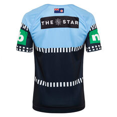 NSW Blues State of Origin 2020 Mens Alternate Jersey Blue S, Blue, rebel_hi-res