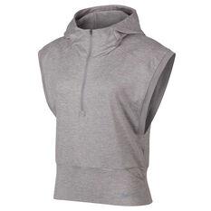 Nike Womens Element Sleeveless Hoodie Grey XS, Grey, rebel_hi-res