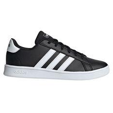 adidas Grand Court Kids Casual Shoes Black/White US 11, Black/White, rebel_hi-res