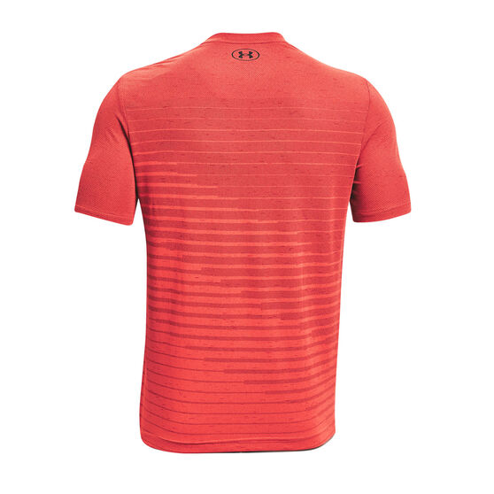 Under Armour Mens Seamless Fade Tee, Red, rebel_hi-res