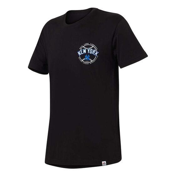 New York Yankees Mens Kardy Tee, Black, rebel_hi-res
