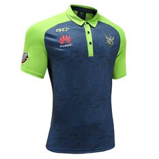 Canberra Raiders 2020 Kids Performance Polo, Blue / Green, rebel_hi-res