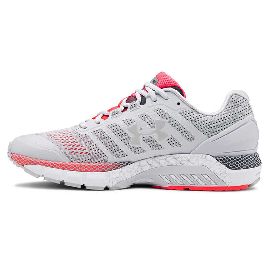 Under Armour HOVR Guardian Mens Running Shoes, Grey / Red, rebel_hi-res