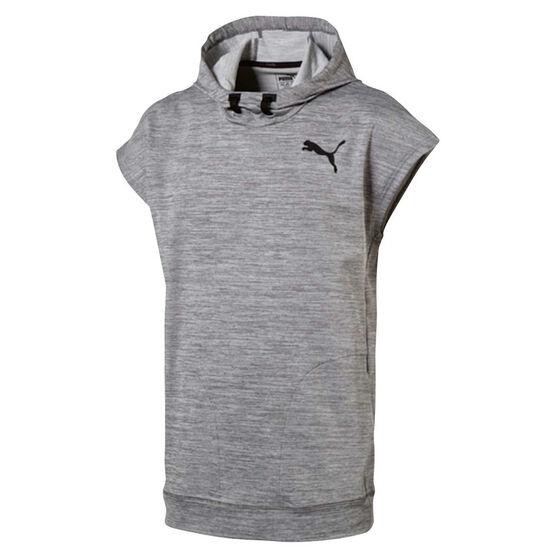 f38028472b082 Puma Mens Tech Fleece Sleeveless Hoodie Grey M