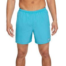 Nike Mens Dri-Fit Challenger Brief-Lined Running Shorts Blue S, Blue, rebel_hi-res