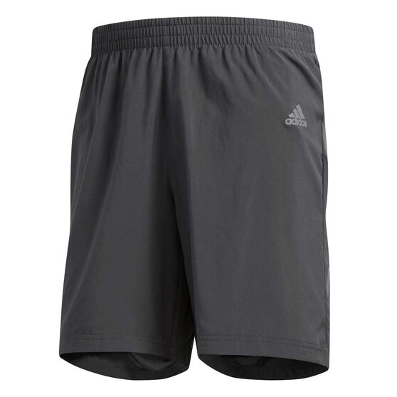 adidas Mens Own the Run 2in1 Running Shorts, Grey, rebel_hi-res