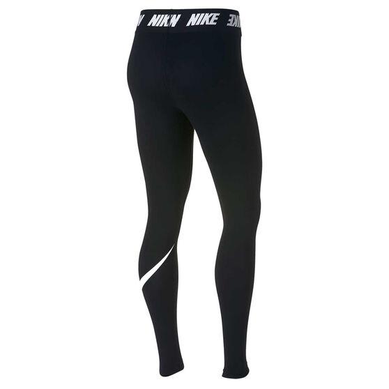 Nike Womens Sportswear High Waisted Leggings Black / White XS, Black / White, rebel_hi-res