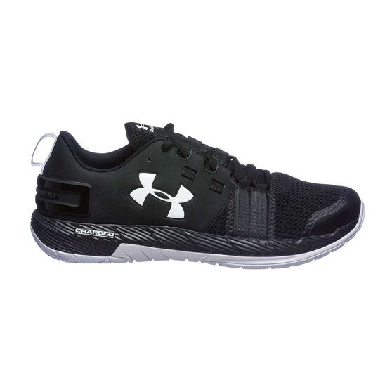 new styles 8cdc9 c439a Under Armour Commit Mens Training Shoes Black / White US 9