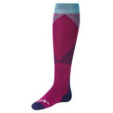 SVNT5 Womens Diamond Stripe Socks Blue / Purple US 6 - 10, , rebel_hi-res