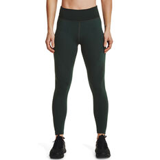 Under Armour Womens UA Rush Seamless Ankle Tights Green XS, Green, rebel_hi-res