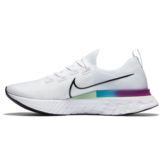 Nike React Infinity Run Flyknit Mens Running Shoes, White/Green, rebel_hi-res
