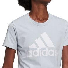 adidas Womens Essentials Logo Tee Blue XS, Blue, rebel_hi-res
