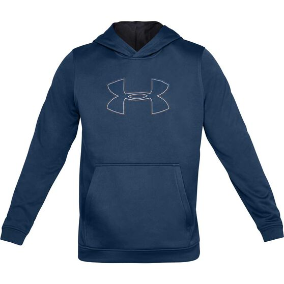 Under Armour Mens Performance Graphic Fleece Hoodie, Blue, rebel_hi-res