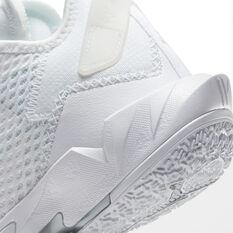Jordan Why Not Zer0.4 Triple White Kids Basketball Shoes, White, rebel_hi-res