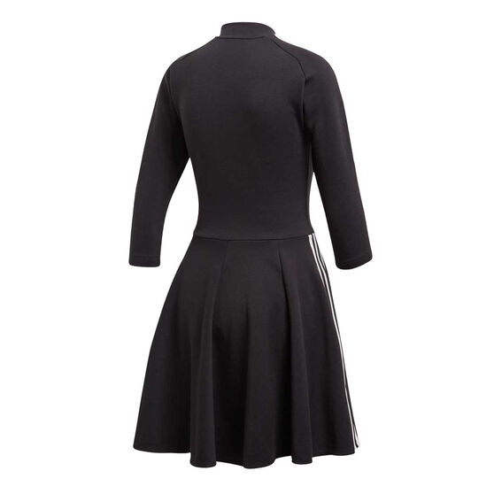 adidas Womens 3-Stripes Dress Black XS, Black, rebel_hi-res