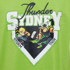 Sydney Thunder 2019/20 Kids Mascot Tee Green 8, Green, rebel_hi-res