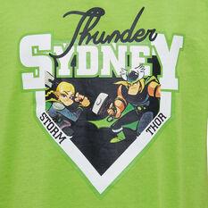 Sydney Thunder 2019/20 Kids Mascot Tee, Green, rebel_hi-res