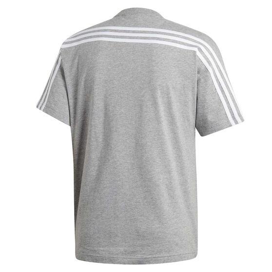 adidas Mens Must Haves 3 Stripes Tee, Grey, rebel_hi-res