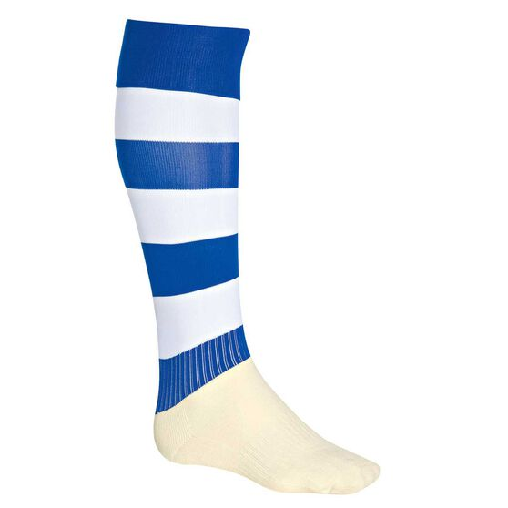 Burley Football Socks, Royal  /  white, rebel_hi-res