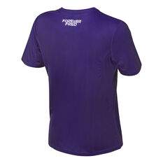 Fremantle Dockers 2021 Mens Training Tee Purple S Purple, Purple, rebel_hi-res