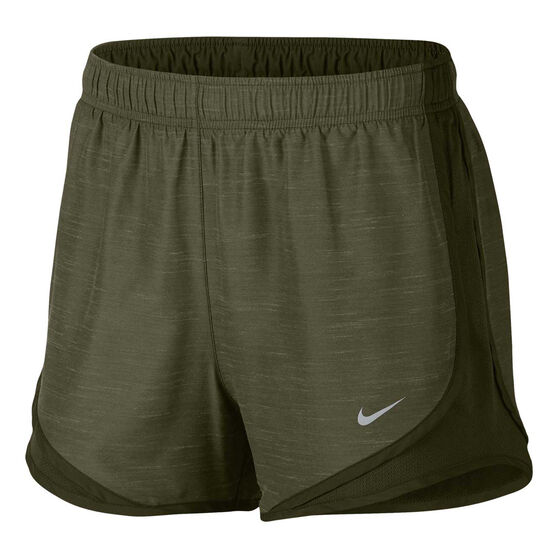 low priced 1bbd5 3163d Nike Womens Dry Tempo Running Shorts, Green, rebel hi-res