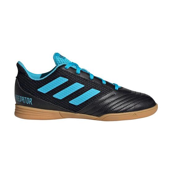 adidas Predator 19.4 SALA Kids Indoor Soccer Shoes, Black / Blue, rebel_hi-res