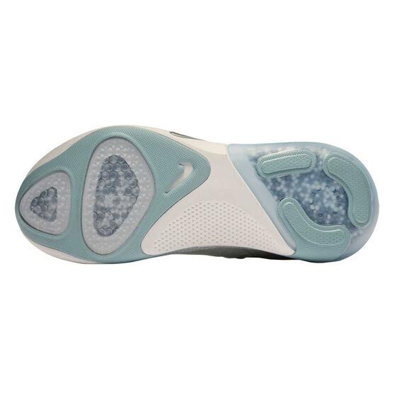 Nike Joyride Run Flyknit Womens Running Shoes Silver / Blue US 8.5, Silver / Blue, rebel_hi-res