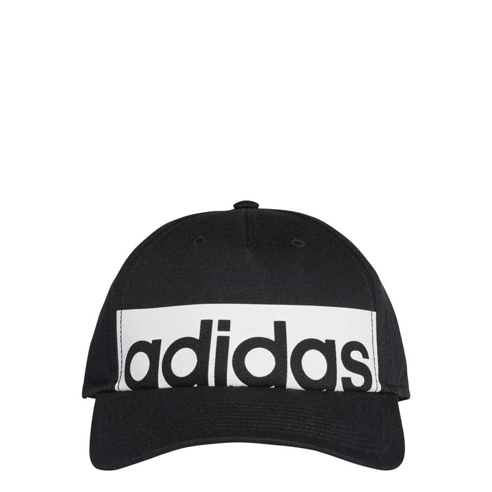 fd2eb70e945 adidas Classic Five Panel Linear Cap Black   White OSFA