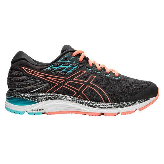 Asics GEL Cumulus 21 Liteshow 2.0 Womens Running Shoes, Grey / Coral, rebel_hi-res