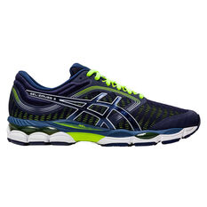 Asics GEL Ziruss 3 Mens Running Shoes Blue/Yellow US 7, Blue/Yellow, rebel_hi-res