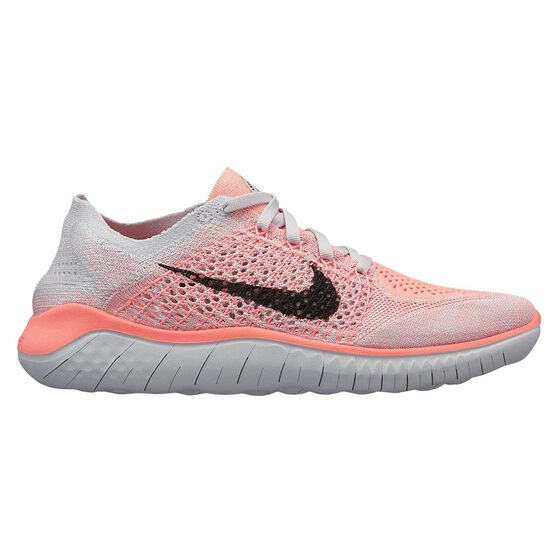 60f41bde2c7cea Nike Free RN Flyknit 2018 Womens Running Shoes Coral   Black US 8 ...