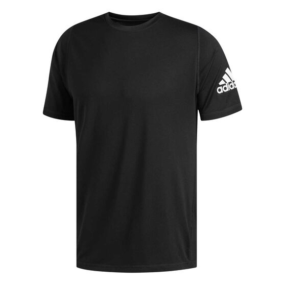 adidas Mens FreeLift Ultimate Solid Tee, Black, rebel_hi-res