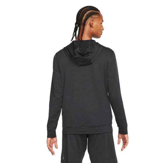 Nike Mens Dri-Fit Full Zip Yoga Jacket, Black, rebel_hi-res