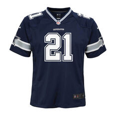 Dallas Cowboys Ezekiel Elliott 2020 Kids Jersey Navy S, Navy, rebel_hi-res