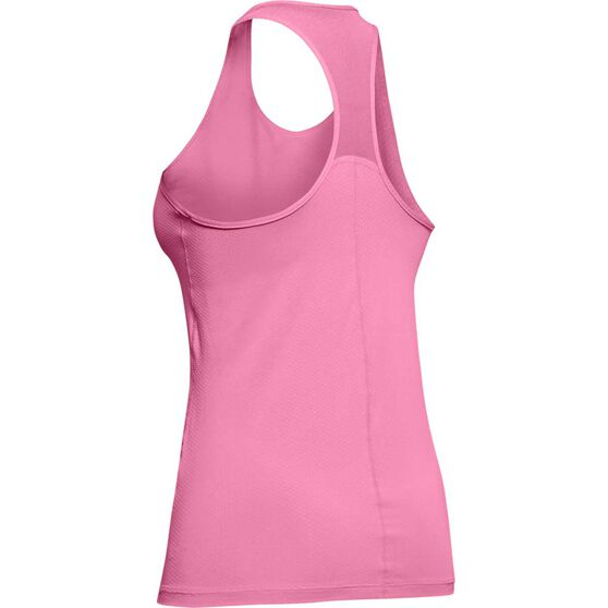 Under Armour Womens HeatGear Racer Training Tank, Pink, rebel_hi-res