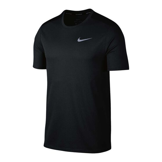 Nike Mens Breathe Running Tee, Black, rebel_hi-res