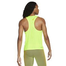 Nike Mens AeroSwift Running Singlet Green XS, Green, rebel_hi-res