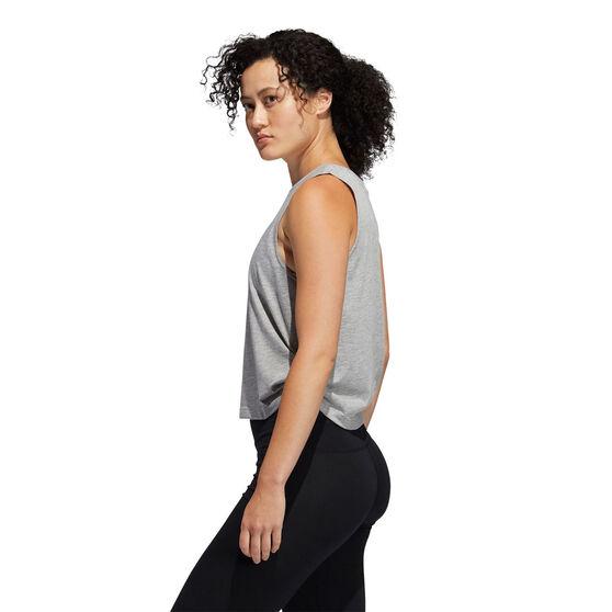 adidas Womens Double Twist Tank, Grey, rebel_hi-res