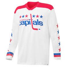 Washington Capitals Men's Replica Jersey White S, White, rebel_hi-res