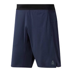 Reebok Mens One Series Knit Training Shorts, Navy, rebel_hi-res