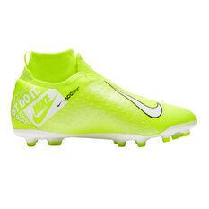 Nike Phantom Vision Elite Dynamic Fit Kids Football Boots Green / White US 6, Green / White, rebel_hi-res