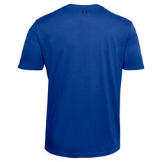 Under Armour Mens Sportstyle Logo Tee Blue XS, Blue, rebel_hi-res