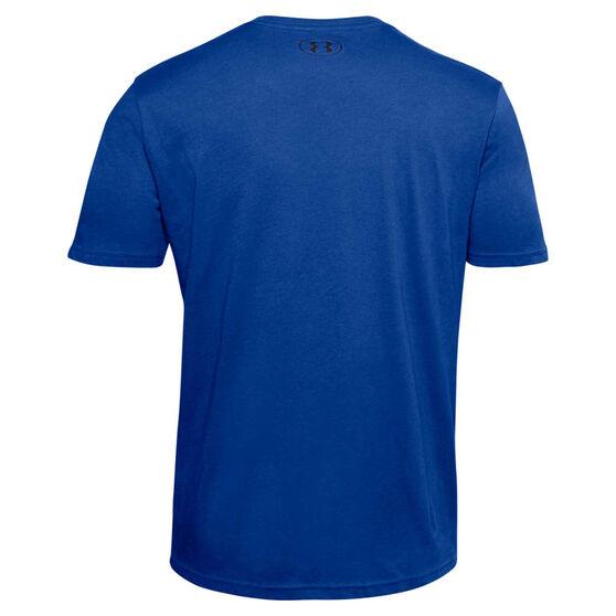 Under Armour Mens Sportstyle Logo Tee, Blue, rebel_hi-res