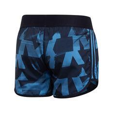 adidas Girls Marathon Training Shorts Blue 8, Blue, rebel_hi-res