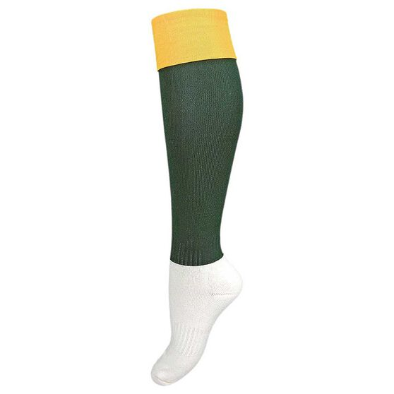 Burley Leg Kids Football Socks Gold  /  Bottle US 2 - 8, Gold  /  Bottle, rebel_hi-res