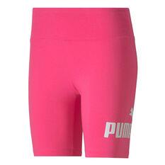 """Puma Womens Essentials+ 7"""" Shorts Pink XS, Pink, rebel_hi-res"""